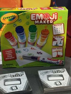 Not only do kids get to create their own emoji stampers with the Crayola Emoji Marker kit, but they ... - POPSUGAR Photography
