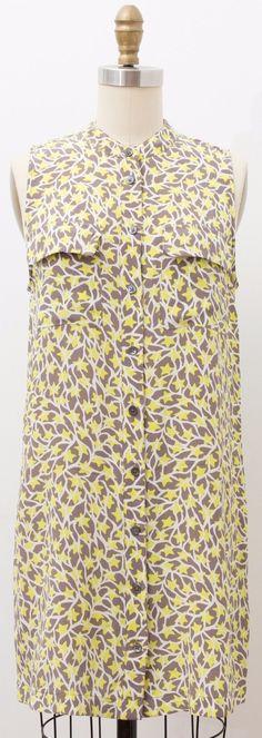 NEW EQUIPMENT FEMME 100% Silk Sleeveless Long Blouse Tunic STAR PRINT Size XS https://qdiz.com/?p=3165