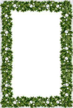 Christmas Photo Frame with Mistletoe