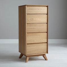Buy House by John Lewis Stride Tall 5 Drawer Chest, Oak Online at johnlewis.com