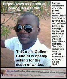 How can people ignore the double standards in today's thought process of if it's against whites, no matter where in the world, it's somehow not racism 🤔 White Lives Matter, My Fellow Americans, Dying Of The Light, The Ugly Truth, Our President, New South, We The People, South Africa, Politics