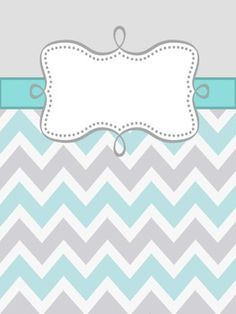 free Chevron Themed Binder Covers