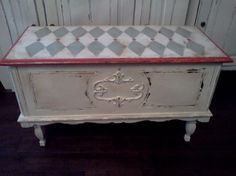 Hand Painted Antique Cedar Chest by sandy562 on Etsy