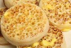 The English crumpet is no longer a mysterious British tea-time treat with this delicious recipe. </br></br> Long time Studio 5 Contributor Becky Low shares her amazing taste combinations for the crumpet. English Crumpets, How To Make Crumpets, Homemade Crumpets, Crumpet Recipe, English Muffin Recipes, Breakfast Recipes, Yummy Food, Treats, Cooking