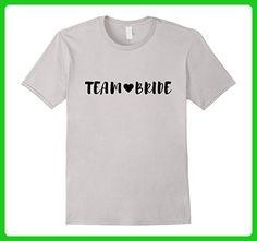 Mens Team Bride T-Shirt in Black Script Font & Heart, Wedding Large Silver - Wedding shirts (*Amazon Partner-Link)