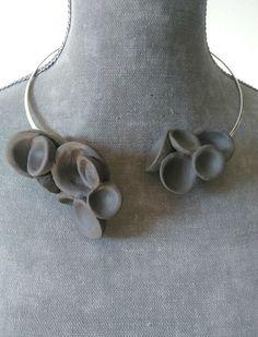 Gragantilla Huecas Porcelana Cerámica Collares por Ceramicsandco