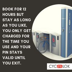 How long can you stay in the Cyc-Lok bike locker after 12 hours? Bike Locker, Parking Solutions, Bike Parking, Lockers, Canning, Locker, Home Canning, Closet, Cabinets