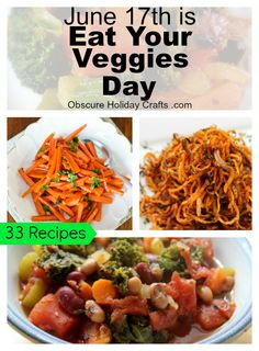 Eat Your Veggies Day Obscure Holidays, Holiday Crafts, Vegetables, Eat, Food, Recipes, Meal, Essen, Vegetable Recipes