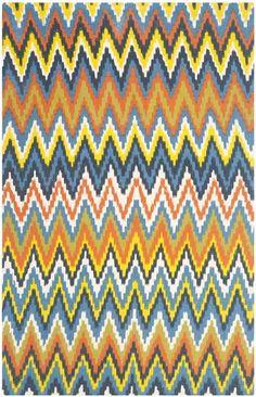 Starting at $29 - Safavieh Cedar Brook CDR145E Blue and Orange contemporay area rugs