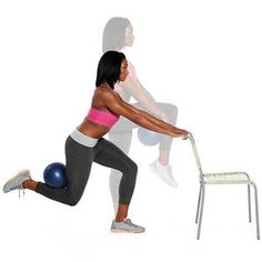Work your abs, hips, butt, quads and hamstrings in the Hover Lunge #exercise.