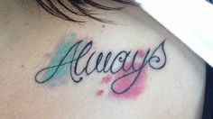 "Blink 182 tattoo, ""Always""... Mark Hoppus, Tom Delonge, Travis Barker."