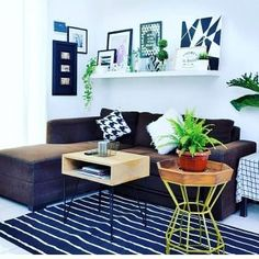 Dekorasi Ruang Tamu Desain Ruang Tamu Kecil Dengan Menambahkan Rak Dinding Living Room Themes, Interior, Table, Modern, Furniture, Community, Home Decor, Trendy Tree, Decoration Home