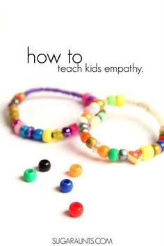 How to teach kids' empathy? Make an empathy bracelet with empathy beads to show respect and awareness of other's feelings. This busy bag activity is based on the book, Quick as a Cricket for pre-k, kinder, kindergarten, special education students. Social Emotional Activities, Social Emotional Development, Counseling Activities, Therapy Activities, Learning Activities, Respect Activities, School Counseling, Feelings Activities, Children Activities