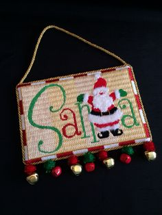 Santa hanging sign