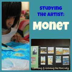 Monet Art Study from Learning and Growing the Piwi Way