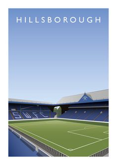 Poster of Hillsborough, the home of Sheffield Wednesday Football Club size measures x size measures x Sheffield Wednesday Football, Sir Alex Ferguson, Emma Watson, Wood Design, Travel Posters, Family History, Pigs, Club