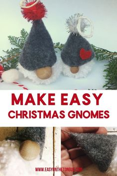 Christmas Decorations need not cost you an arm and a leg. Make the easy Christmas Gnome in less than half an hour - that's it! It is so easy, you can involve your children as well. Don't take my word for it, click through to see for yourself! Inexpensive Christmas Gifts, Homemade Christmas, Simple Christmas, Yarn Crafts, Fabric Crafts, Sewing Crafts, Christmas Gnome, Christmas Crafts, Christmas Decorations