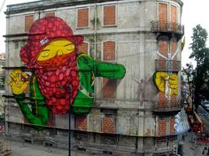 Massive Graffiti Art by Os Gemeos and Blu | Amusing Planet