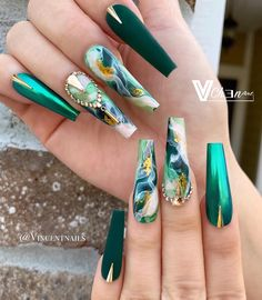 top awesome coffin nails designs 2019 you must try 26 Cute Acrylic Nail Designs, Best Acrylic Nails, Marble Nail Designs, Nail Art Designs, Fabulous Nails, Gorgeous Nails, Pretty Nails, Hair And Nails, My Nails