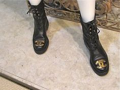 Vintage Chanel Combat Boots. Here's a sneak peak of a similar pair I found. I'll post my pics soon. Size 37.5 and impossible to find :)