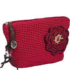 The Sak The Sak Classic Accessories Cosmetic - Tomato w/Flower Pin - via eBags.com!