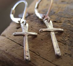 A personal favorite from my Etsy shop https://www.etsy.com/listing/238240863/cross-earrings-small-sterling-silver