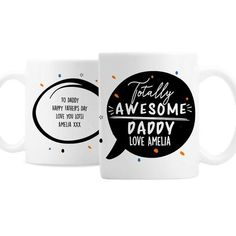 Personalised Totally Awesome Mug - Happy Father's Day - First Father's Day - Father's Day Gift - Daddy gift - Grandad - Uncle Birthday Gifts For Husband, Gifts For New Dads, Girlfriend Birthday, Dad Birthday, Gifts For Father, Birthday Quotes, Daddy Gifts, First Fathers Day