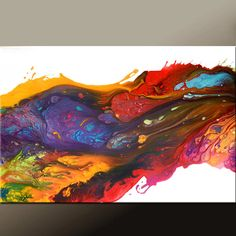Abstract Canvas Art Painting Canvas 36x24 Original by wostudios