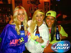 Loved these outfits at #BudLight Night at Cloud #Athens!! #Beer #BeerLovesYou #Rave