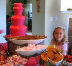 pink chocolate fondue