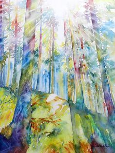 landscape watercolor - acquerello paesaggio - Cristina Dalla Valentina
