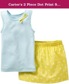 Carter's 2 Piece Dot Print Skirt Set (Baby) - Turquoise-3 Months. Carters 2 Piece Dot Print Skirt Set (Baby) - Turquoise Carter's is the leading brand of children's clothing, gifts and accessories in America, selling more than 10 products for every child born in the U.S. The designs are based on a heritage of quality and innovation that has earned them the trust of generations of families.