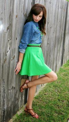Denim & Green at my blog! #beautybrawler