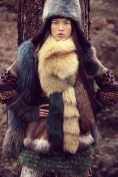 Creative winter furs #lulus #holidaywear