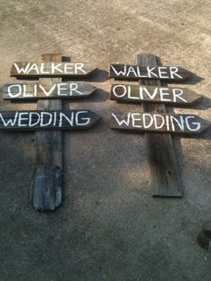 really rustic wedding signs