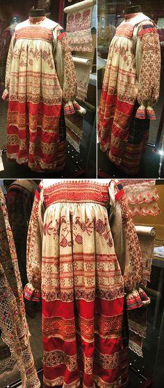 Женская праздничная одежда Рязанская губ. конец 19 в