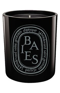 Diptyque 'Baies' Scented Black Candle