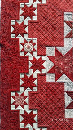Red and White Quilty love! - star quilt