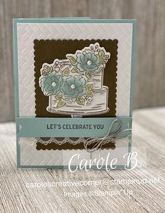 Stampin' Up! happy birthday to you, SAB 2020 Happy Birthday Woman, Stamping Up Cards, Happy B Day, Birthday Cards For Men, Valentines For Kids, Card Maker, Crafty Projects, Making Ideas, Cardmaking