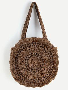 Next Post Previous Post Shop Crochet Scalloped Round Beach Bag online. SheIn offers Crochet Scalloped Round Beach Bag & more. Crochet Motifs, Crochet Tote, Crochet Handbags, Crochet Purses, Crochet Blanket Patterns, Bead Crochet, Knitted Bags, Online Bags, Evening Bags