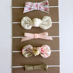 Pink/Floral Headband Set...Baby Headband by HallieBDesigns on Etsy