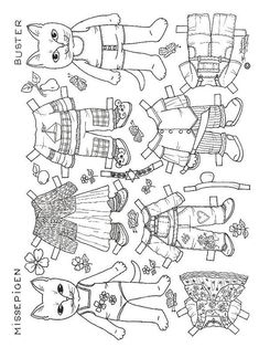 Paper Dolls To Color