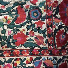 Beautiful old suzani embroidery