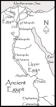 Map of Egypt for Kid Egypt Printable Coloring Pages