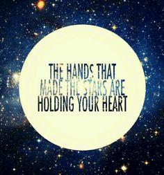 God is holding your heart