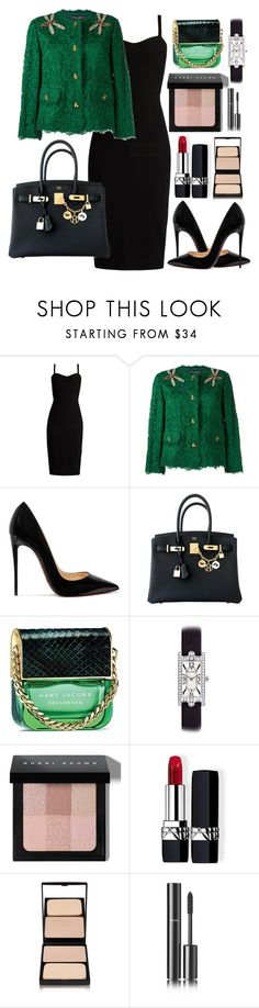"""""""Untitled #398"""" by ngkhhuynstyle ❤ liked on Polyvore featuring MaxMara, Dolce&Gabbana, Christian Louboutin, Hermès, Marc Jacobs, Harry Winston, Bobbi Brown Cosmetics, Christian Dior, Sisley and Chanel"""