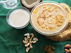 Godhi Payasa | Broken Wheat Kheer Cracked Wheat, Morning Breakfast, Food Festival, Dessert Recipes, Desserts, Healthy Kids, Cheeseburger Chowder, Indian Food Recipes, Sweet Recipes