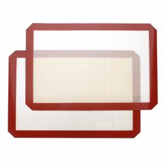 Silicone Baking Mat Non-Stick Mat Silicone Cookie Mat for Oven, Bread, Pastry, Macaron, Bake Pan - 2 Pack (15.7inch-by-11.8inch)