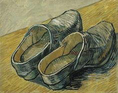 Vincent van Gogh - A pair of leather clogs, March 1888.