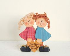 Vintage Wooden Country Craft Friendship Sign by AbigailVintageShop